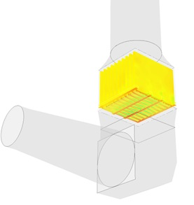 Exhaust gas flow design